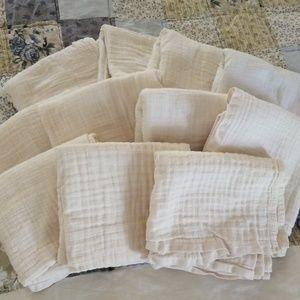 12 Clotheez Organic Muslin Flat Diapers